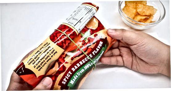 Tesnjenje vrečke s čipi
