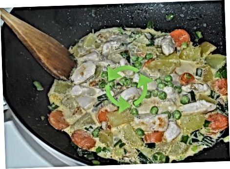 Een plantaardige Chicken Stroganoff maken