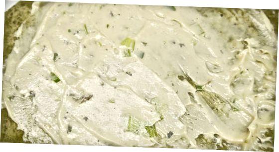 Kreminio sūrio sumaišymas