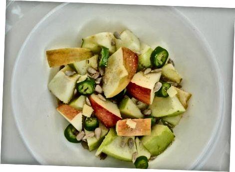 Bætið eplum við súpur, salöt og forrétt