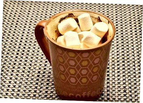 ცხელი შოკოლადის Mug Brownies- ის დამზადება