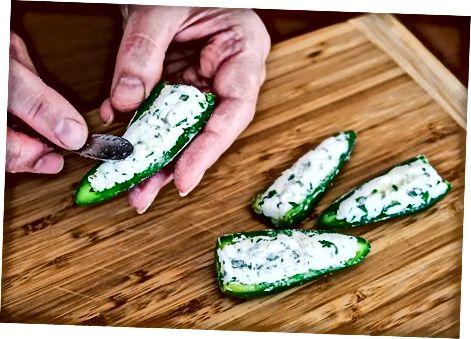 Making Baked Crispy Jalapeno Poppers