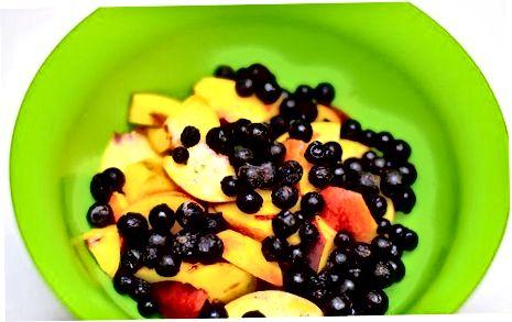 Fazendo um sapateiro de frutas
