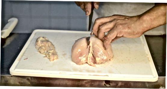 Knochen und Haut entfernen
