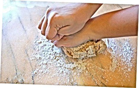 Makaronų tešlos paruošimas