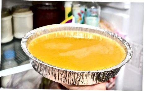 Paruoškite apelsinų sluoksnį