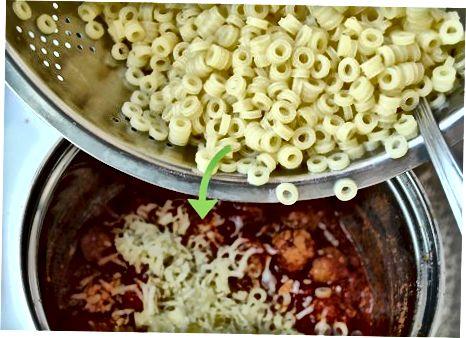 მაკარონის მომზადება და კერძი აურიეთ