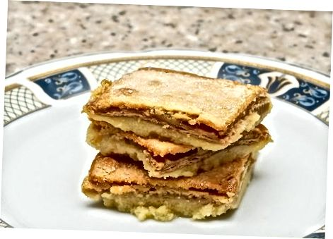 Sandwich met gezouten karamel-cheesecake