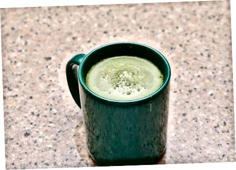 Horúci zelený čaj Latte (rýchla verzia)