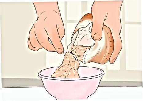 Fleisch entfernen