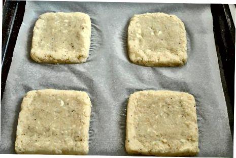 Assar o pão de couve-flor