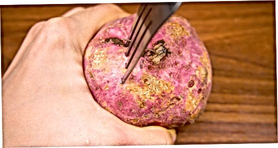 Cuisson de patates douces entières