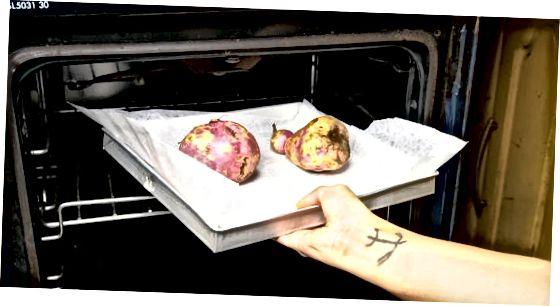 Stek hele søte poteter