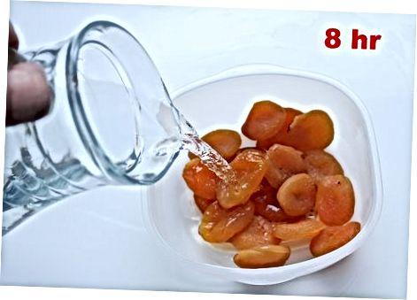 Gedroogde abrikoos en amandeljam