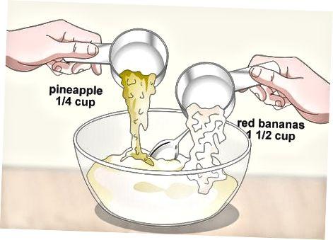 Pjekja e bukës me ananas të bananeve të kuqe