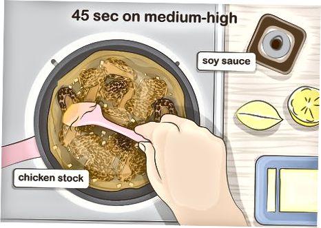 Кување гљива у умаку од чешњака