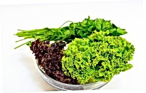 Bir selderey salatini qo'yish
