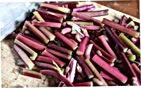Bişmiş Rhubarb hazırlamaq