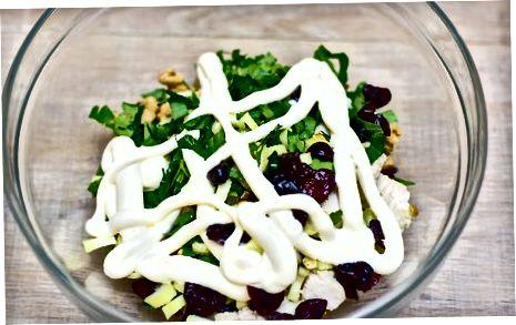Cranberry Turkiya salatasini tayyorlash