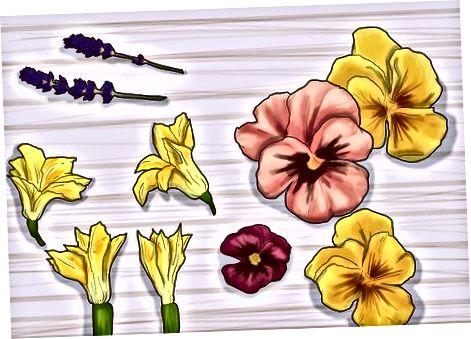Blumen als Nahrung verwenden