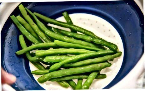 Blanching fazuľa