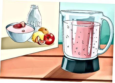 Fazendo café da manhã nutritivo