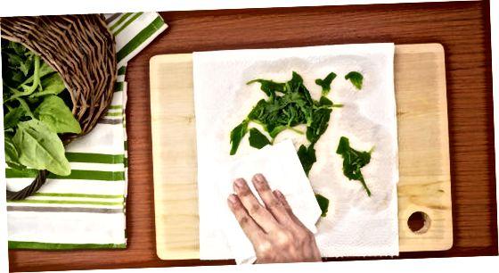 Мұздату алдында шпинатқа үрлеу