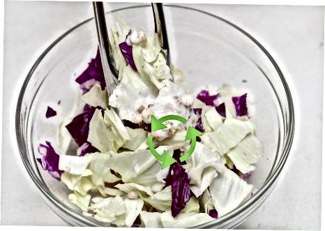 Kreminės veganiškos Cole Slaw gaminimas