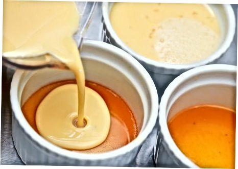 Klargjøring av karamell og flan