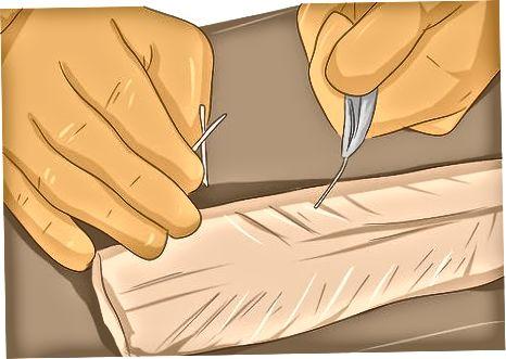 پر کردن ماهی قزل آلا تمیز