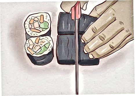 Að undirbúa sushi heima