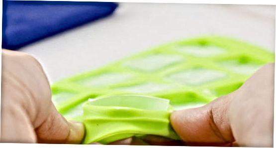 Usando um molde de silicone
