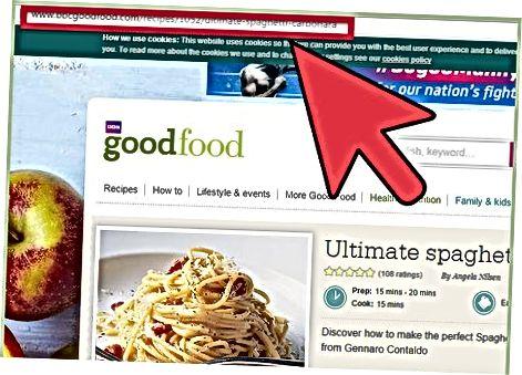 Штампање рецепата користећи опцију штампања вашег прегледача