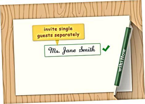 Külaliste nimekirja korraldamine