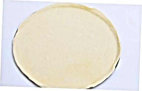 Shakar pechene qobig'i bilan oson meva pizza tayyorlash