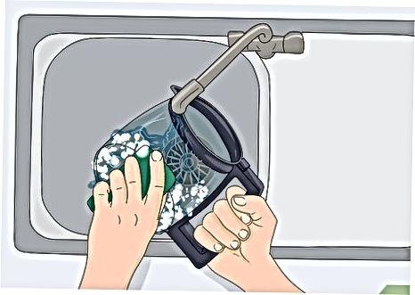 Pranje ostanka stroja