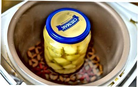 Kuhanje kozarcev krompirja pod tlakom