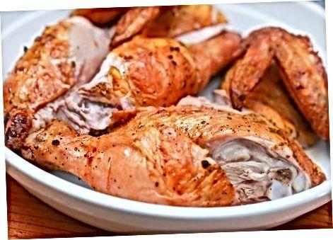 Pogrevanje piščanca v pečici