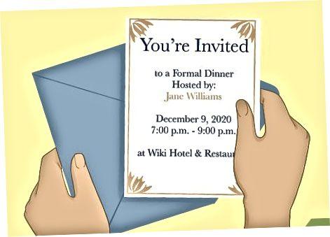 Sprejem uradnega povabila