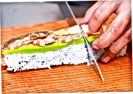 Гарнір і сервірування суші