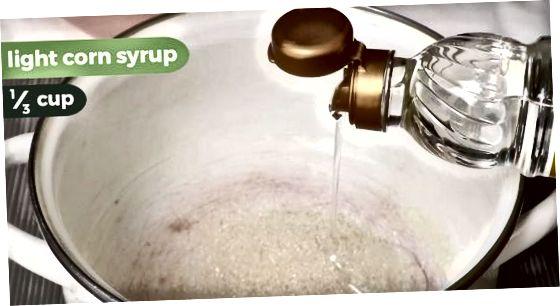 Het maken van het snoepmengsel