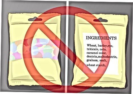 Branje etiket sladkarij