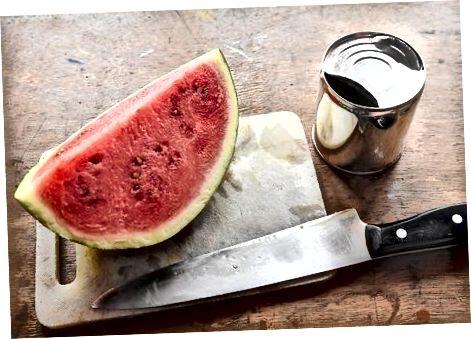 Pieniškas arbūzų šerbetas
