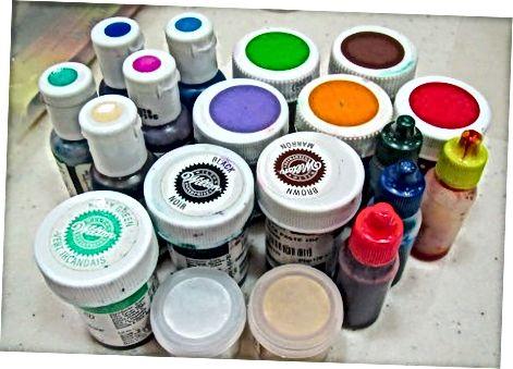 Fondanta krāsas izvēle