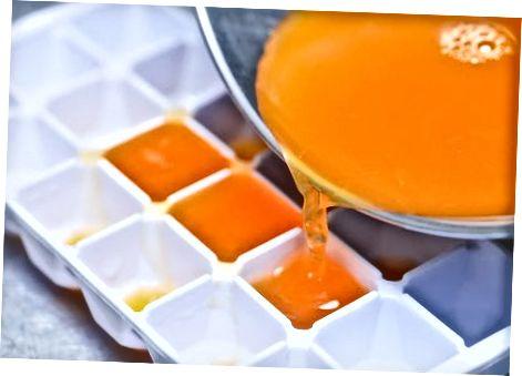 Lollies de cubos de gelo laranja