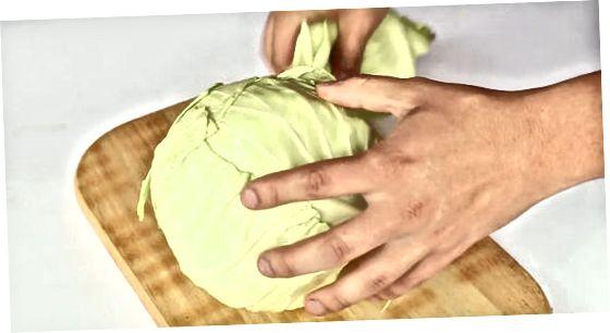 Tæta salat og hvítkál með raspi