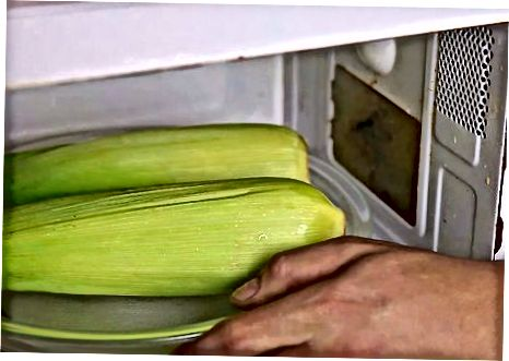 Mikrobangų kukurūzai Huske