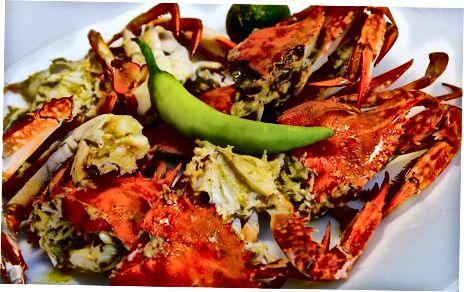 پخت و پز خرچنگ ها در فر