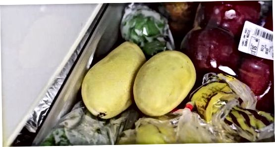 Maduració d'un mango sense madurar
