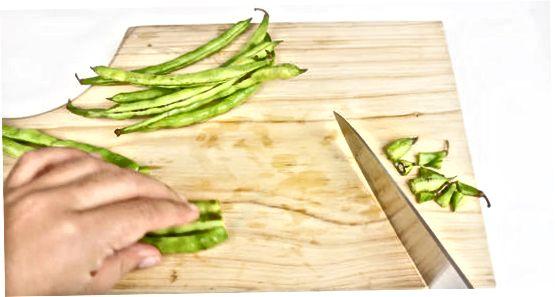Zeleni fižol, zavit s slanino